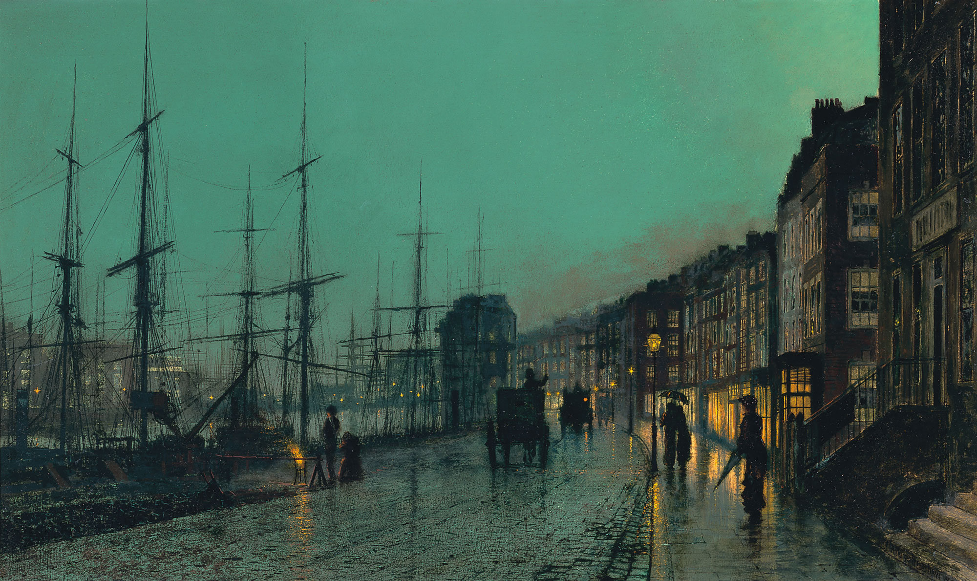 Shipping on the Clyde, by John Atkinson Grimshaw, 1881