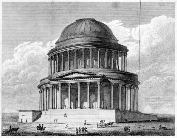 Archibald Elliot's c.1819 rejected design for the National Monument of Scotland. (Crown Copyright: RCAHMS)