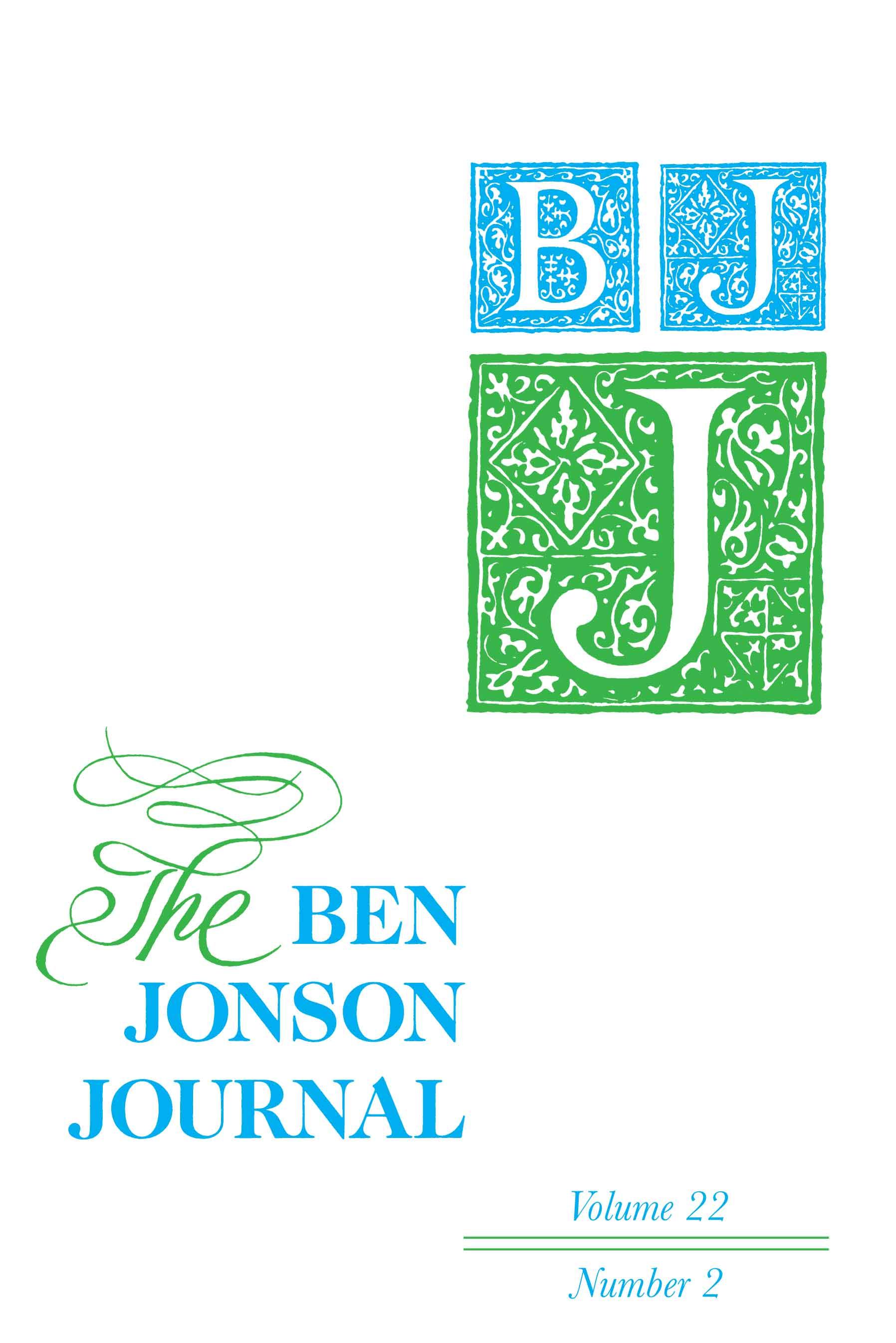 Ben Jonson Journal