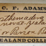 Label in C. F. Adams's hand pre-printed for New Zealand birds that he prepared in Auckland for his own purposes; from a study-skin of a tui Prosthemadera novaeseelandiae in the Smithsonian Institution, Washington DC (USNM 257636; label 62 × 24 mm). Photograph: B. Gill.