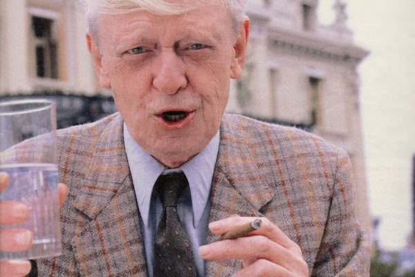 Anthony Burgess in 1989 pictured by Helmut Newton