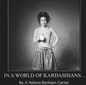 Helena Bonham Carter versus the Kardashians