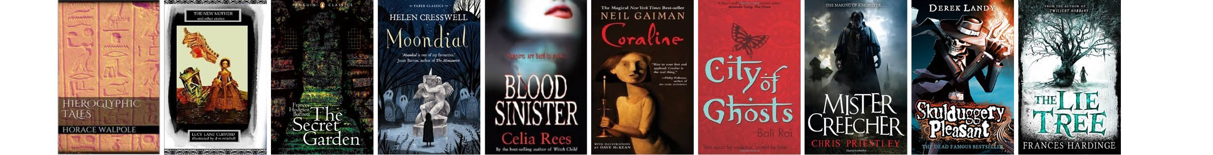 Gothic Children's Fiction Top Ten Covers