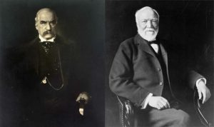 Pilgrims Societ members J.P. Morgan and Andrew Carnegie