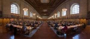 Photograph of New York Public Library Research Room: one of Stephen's highlights when researching The Pilgrims Society