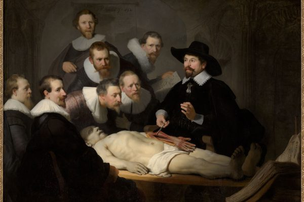Rembrandt van Rijn, The Anatomy Lesson of Dr Nicolaes Tulp, 1632. Mauritshuis, Den Hague.