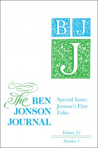 Cover of the Ben Jonson Journal