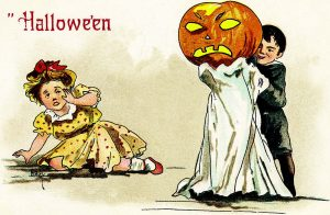 Halloween: American postcard dated 1910.