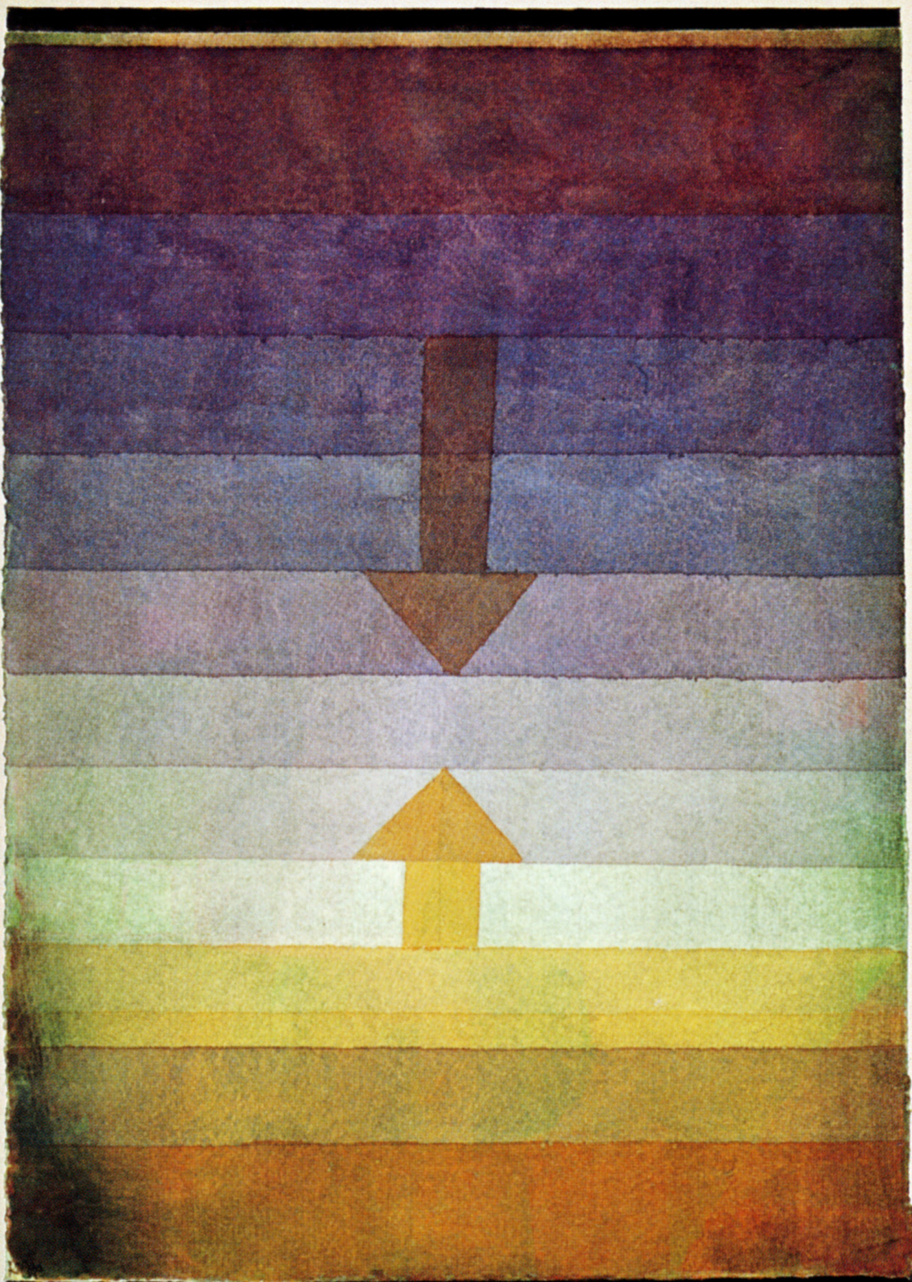 Paul Klee painting ' Seperation in the Evening'