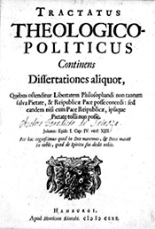 Imprint page of Spinoza's Tractatus Theologico-Politicus