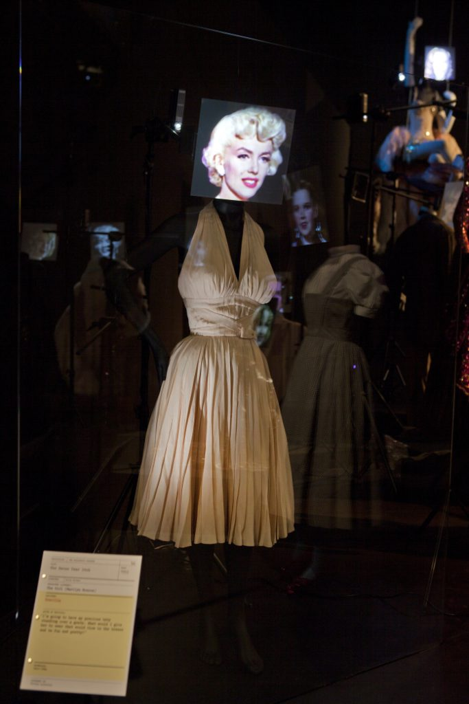 106af2dab A complex phenomenon: the iconic dress worn by Marilyn Monroe in The Seven  Year Itch on display in the Hollywood Costume Exhibition at the Victoria  and ...