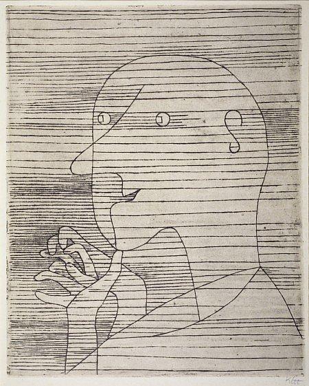 'Rechnender Greis' by Paul Klee.
