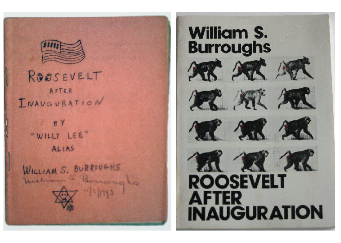 Roosevelt After Inauguration book covers, about William S. Burroughs
