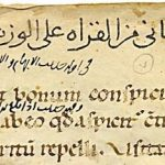 This medieval Arabic manuscript features a title page recycled from a Latin homiliary.
