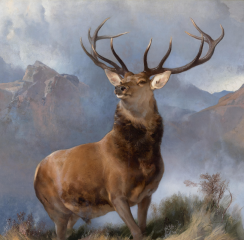 The Monarch of the Glen by Edwin Landseer, 1851 - a rare example of an animal represented in the sublime