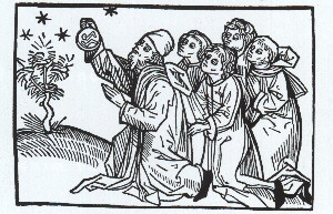A medieval depiction of Aristotle