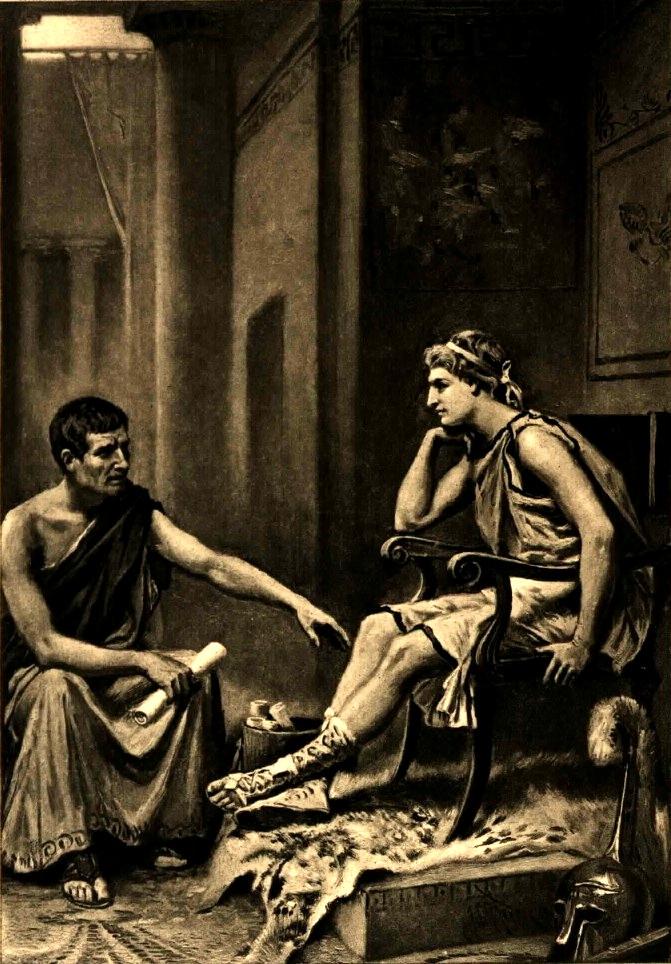 Aristotle tutoring Alexander the Great