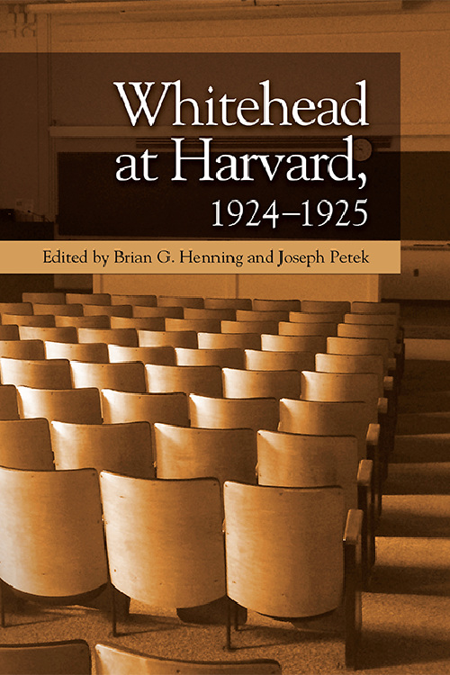 Cover image of Whitehead at Harvard, 1924–1925