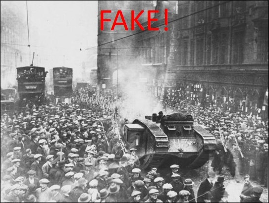 Battle of George Square fake image of tanks