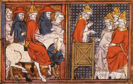 Pope Urban II preaches the Crusade in 1095