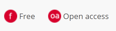 Free and Open Access Icons