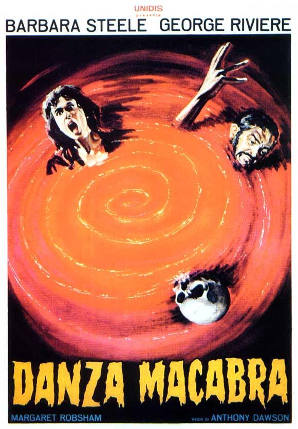 Poster from Italian vampire movie Danza macabra / Castle of Blood (Antonio Margheriti, 1963).