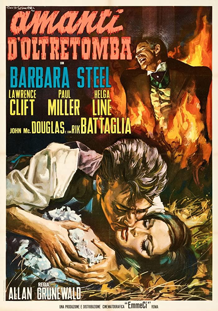 Poster from Italian vampire movie Amanti d'oltretomba / Nightmare Castle (Mario Caiano, 1965).