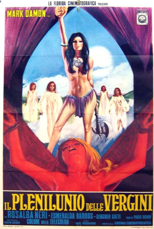 Poster from Il plenilunio delle vergini / The Devil's Wedding Night (Luigi Batzella, 1973).