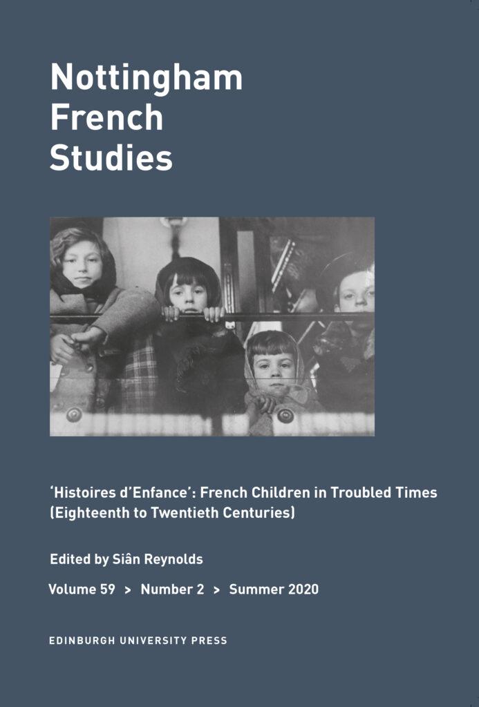 Nottingham French Studies cover