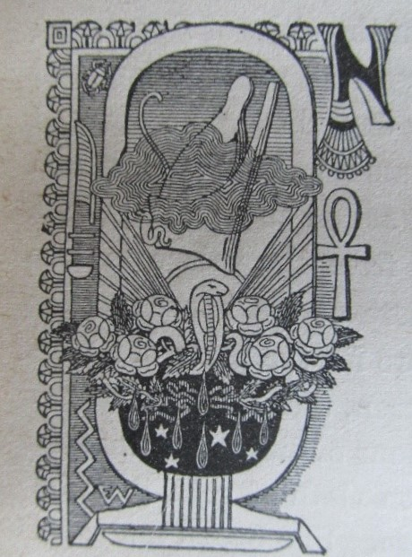 Snake and rose image from a book