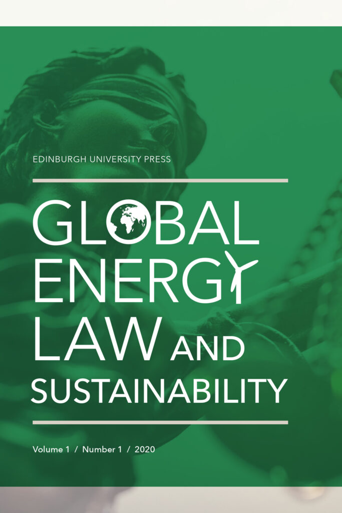 Global Energy Law and Sustainability journal cover