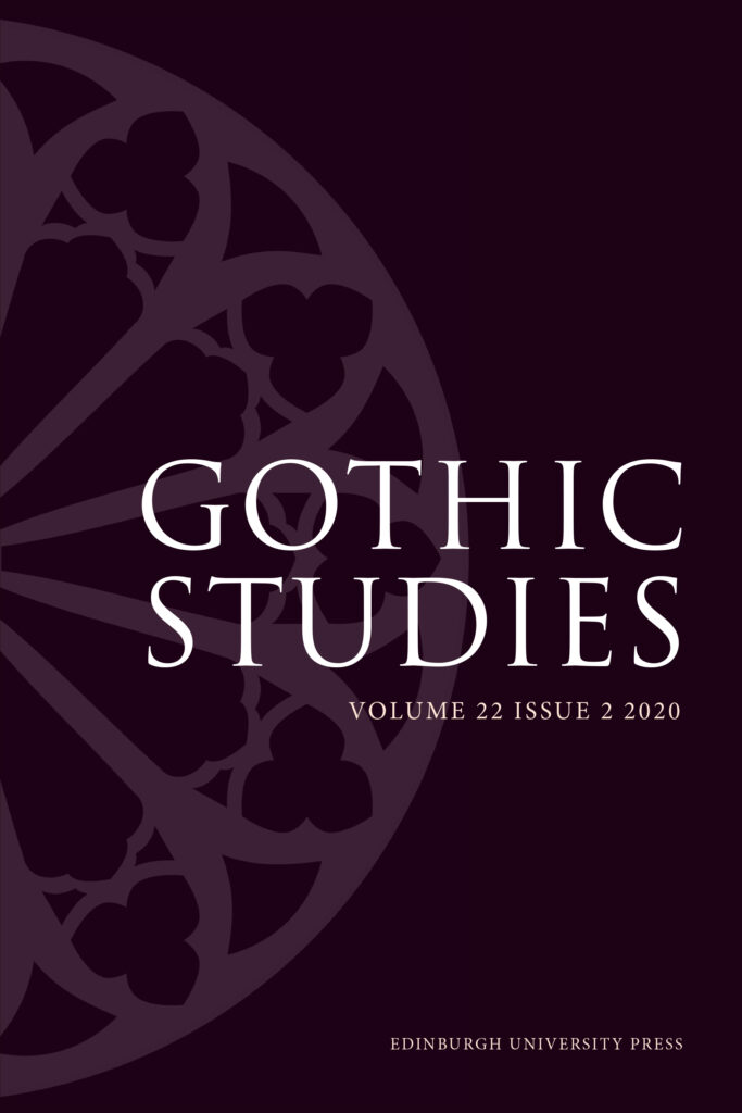 Gothic Studies journal cover