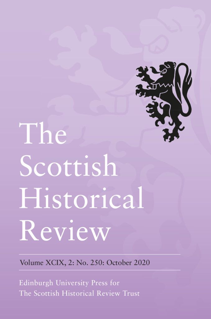Scottish Historical Review journal cover