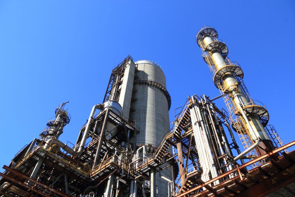 An oil platform