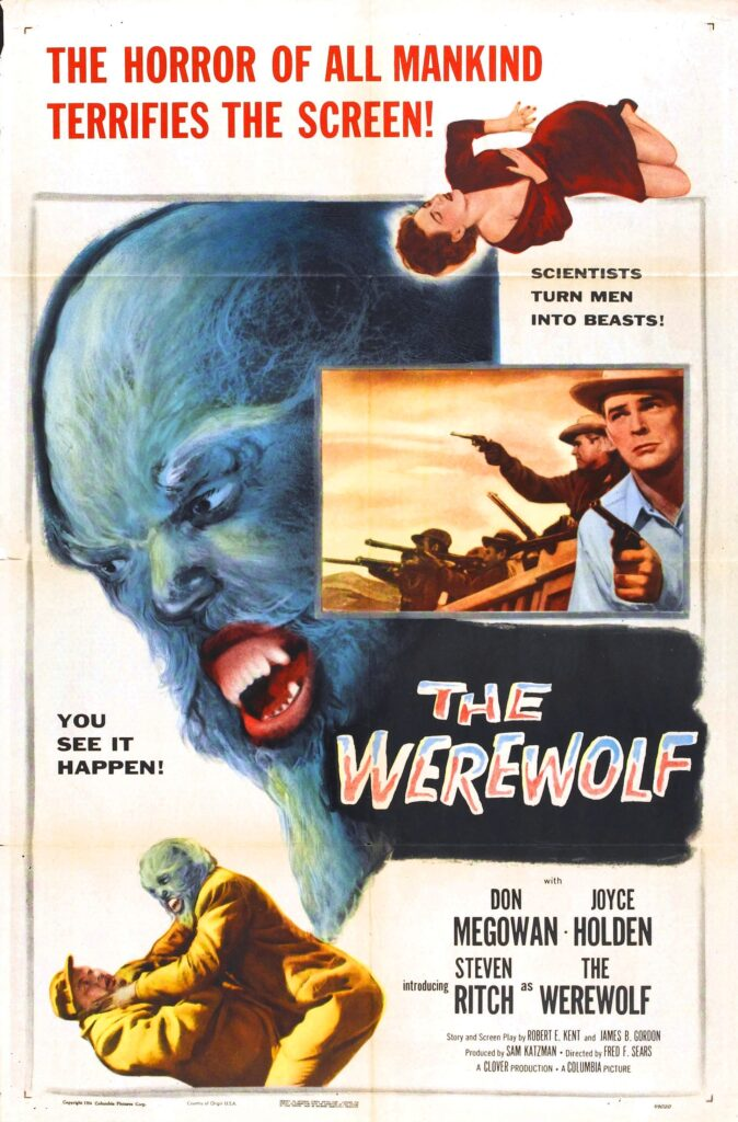 Number 1 lesser known werewolf film is a poster for The Werewolf (1956)