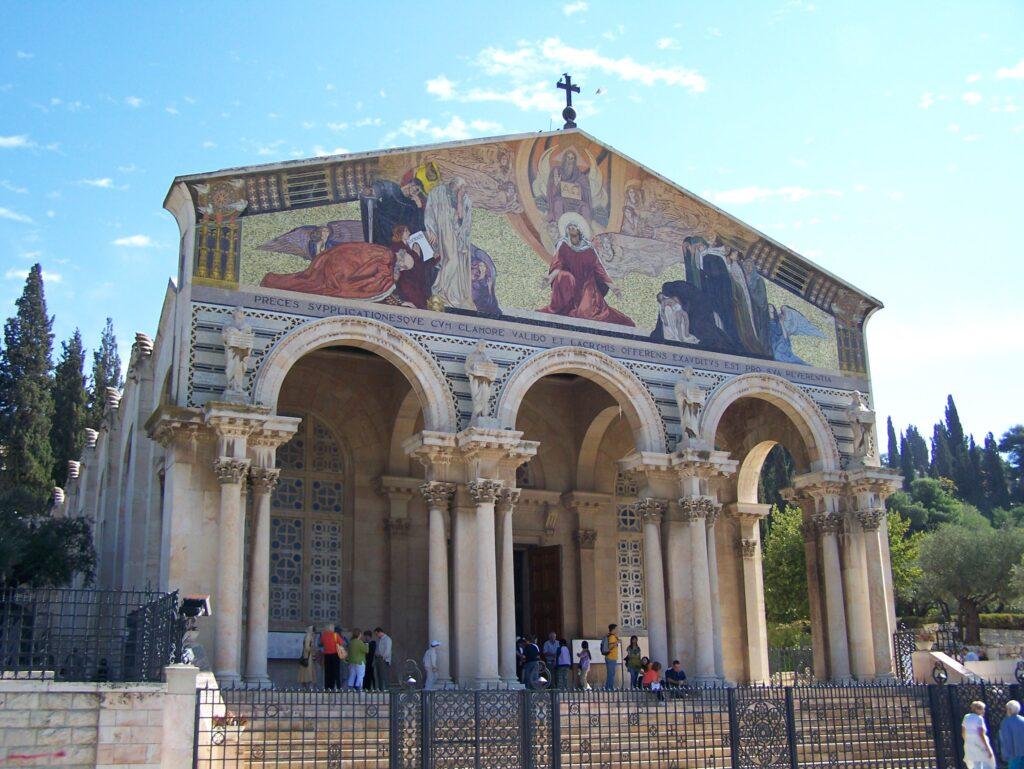 A photograph of the Roman Catholic Church of All Nations, Jerusalem