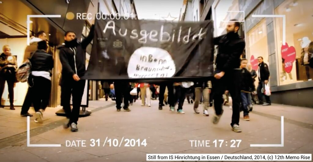 Figure 3: Still from IS Hinrichtung in Essen / Deutschland, 2014, (c) 12th Memo Rise.