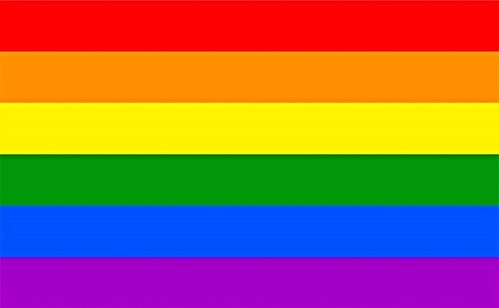 Contextual image of the rainbow peace flag