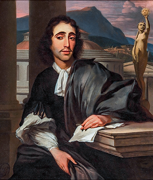 Image of an oil painting showing a man thought to be Baruch Spinoza.
