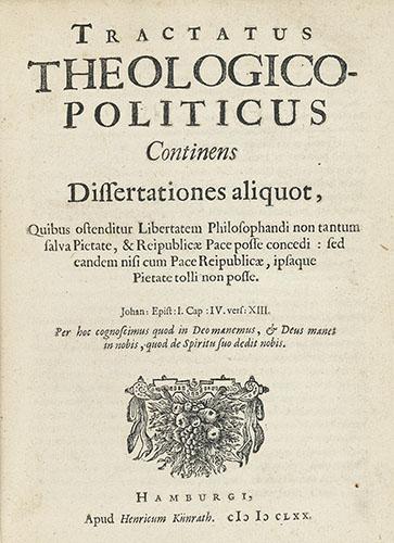 Original cover page of Spinoza's Tractatus Theologico-Politicus.