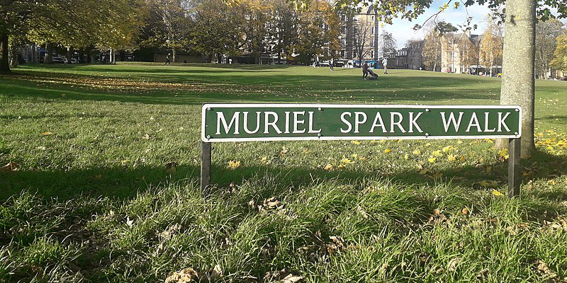 Image of Muriel Spark Walk Leamington Terrace Edinburgh. November 2020.