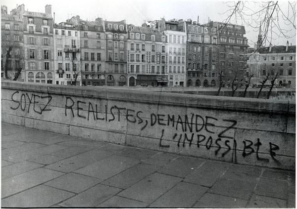 Graffiti in Paris 1968, 'Be realistic, demand the impossible'