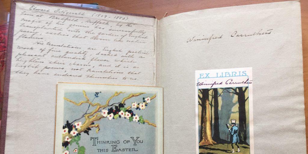 Victorian-era Winnifred Carruthers' copy of The Rubaiyat of Omar Khayyam