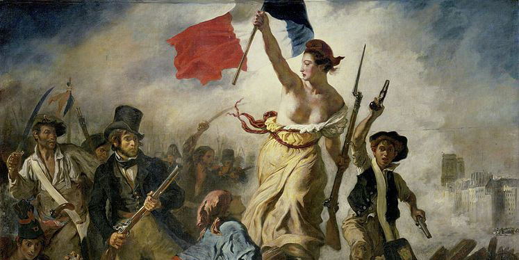 Painting that commemorates the French Revolution of 1830.