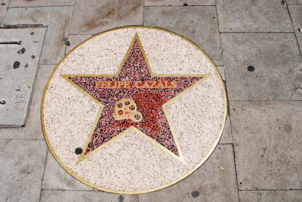 Felipe Cazals' star on Paseo de las Estrellas on Paseo Constitución in Victoria de Durango, Mexico [Photo via Wikimedia Commons]