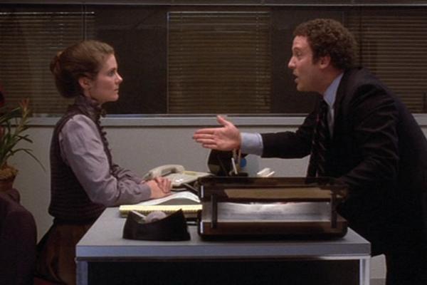 Albert Brooks and Julie Hagerty in Lost in America (1985, dir. Albert Brooks, The Geffen Company)