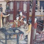 A painting depicting a scene from Dream of the Red Chamber